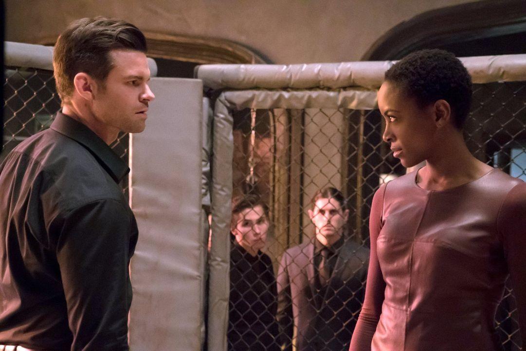 Gelingt es Elijah (Daniel Gillies, l.), die Macht über die Strix an sich zu reißen oder macht ihm Aya (Tracy Ifeachor, r.) einen Strich durch die Re... - Bildquelle: Warner Bros. Entertainment, Inc.