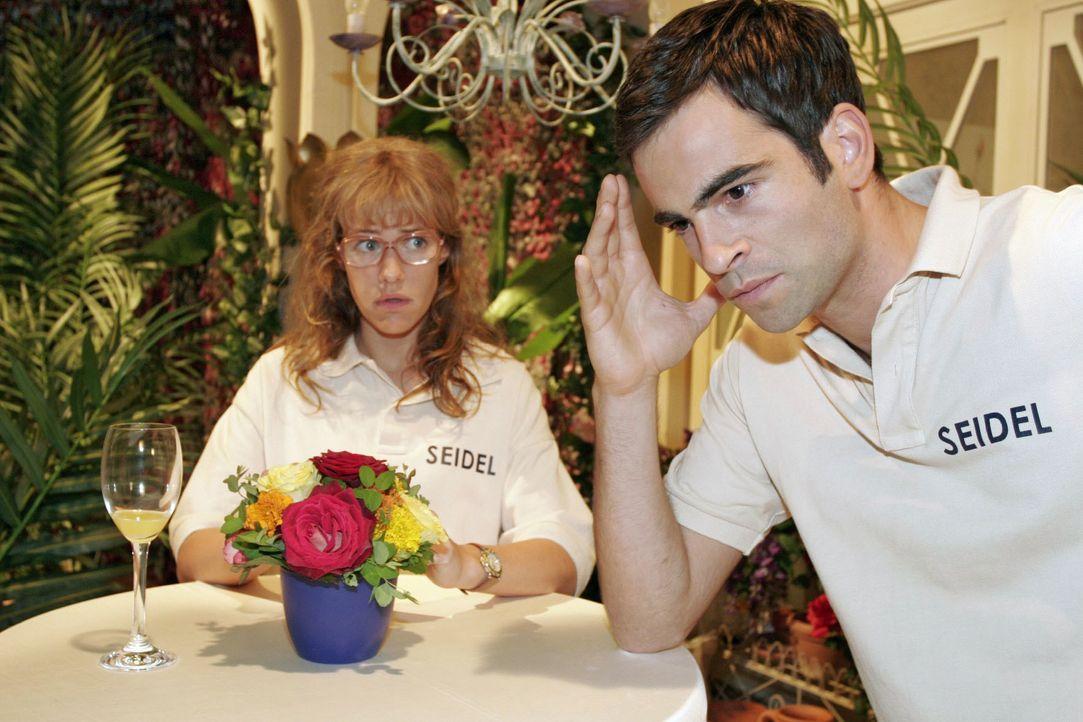 Lisa (Alexandra Neldel, l.) wehrt sich gegen Davids (Mathis Künzler, r.) Vorwurf, dass sie B.STYLE an Richard verraten hätte. (Dieses Foto von Alexa... - Bildquelle: Noreen Flynn SAT.1 / Noreen Flynn