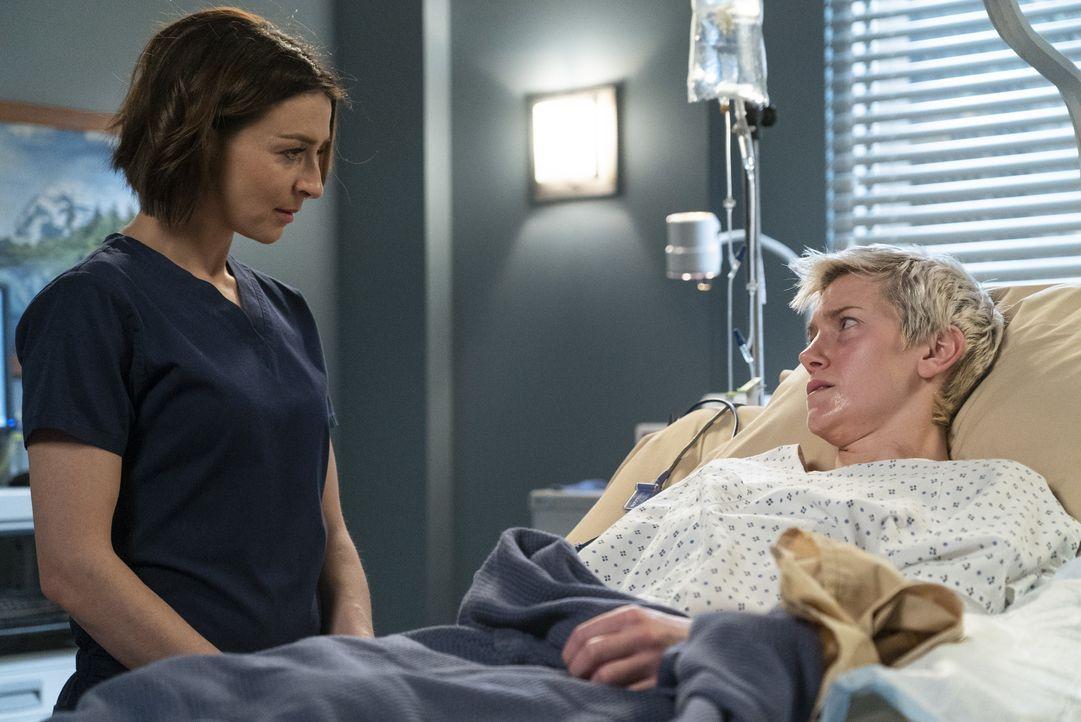 Dr. Amelia Shepherd (Caterina Scorsone, l.); Toby Donnelly (Arielle Hader, r.) - Bildquelle: Eric McCandless ABC Studios / Eric McCandless