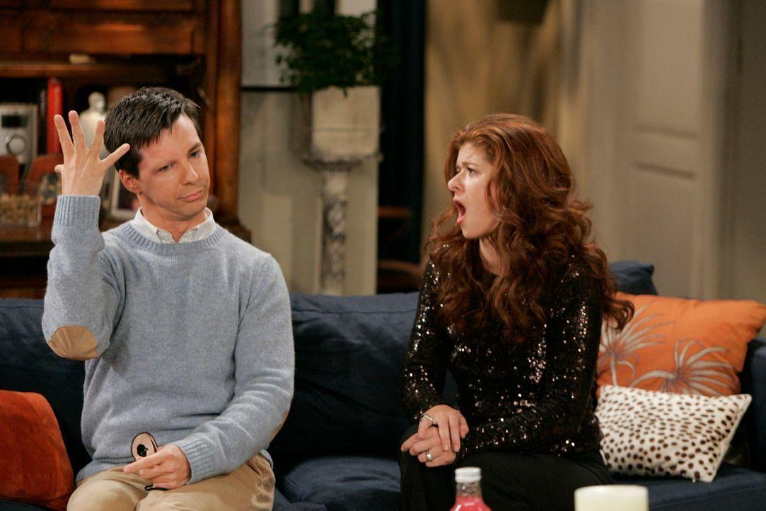 Grace (Debra Messing, r.) holt sich Rat bei ihrem langjährigen Freund Jack (Sean Hayes, l.) ... - Bildquelle: NBC Productions