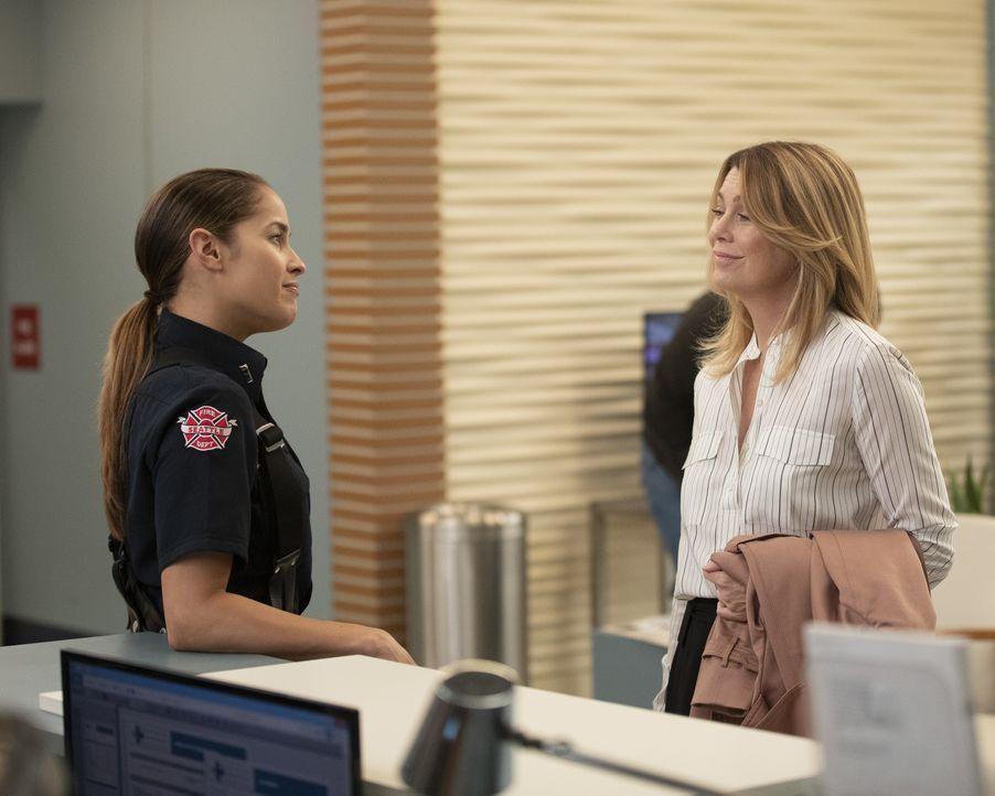 Andy Herrera (Jaina Lee Ortiz, l.); Dr. Meredith Grey (Ellen Pompeo, r.) - Bildquelle: Rick Rowell ABC Studios / Rick Rowell