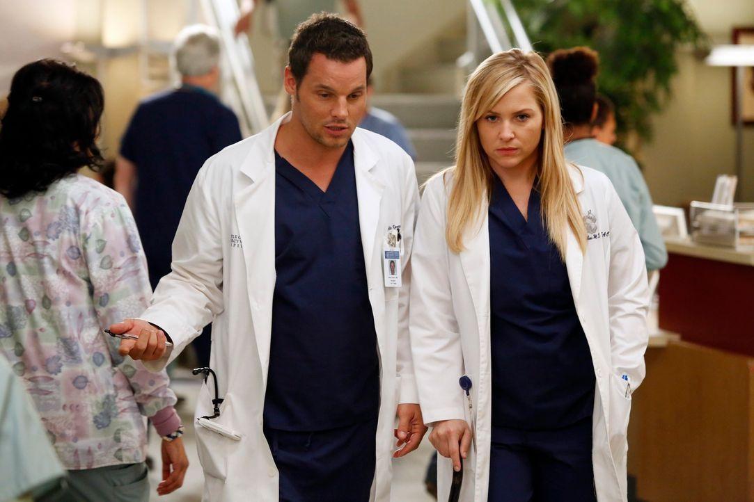 Ein harter Arbeitstag wartet auf Alex (Justin Chambers, l.) und Arizona (Jessica Capshaw, r.) ... - Bildquelle: ABC Studios