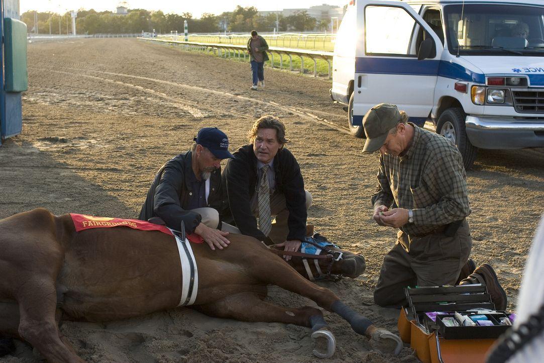 Besorgt um das beste Pferd im Stall: Ben Crane (Kurt Russel, M.) hat Angst um Sonya. - Bildquelle: Epsilon Motion Pictures
