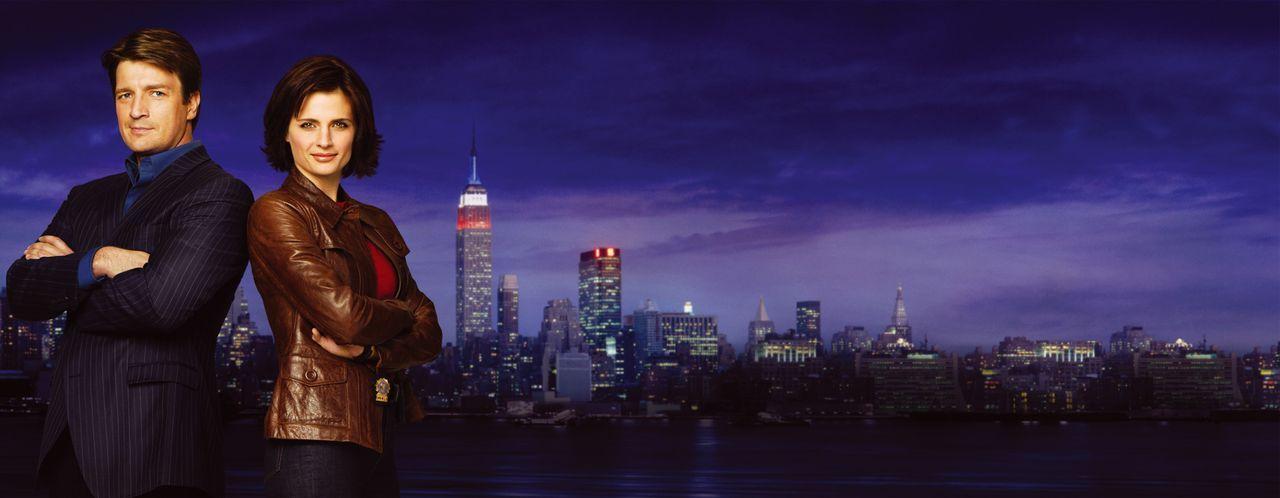(1. Staffel) - Werden zur Zusammenarbeit gezwungen: Richard Castle (Nathan Fillion, l.) und Kate Beckett (Stana Katic, r.) - Bildquelle: ABC Studios
