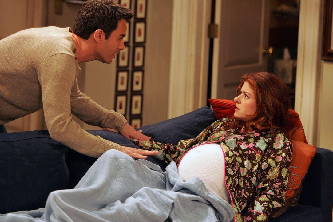 Gerade als sich Will (Eric McCormack, l.) und Grace (Debra Messing, r.) nun doch für das gemeinsame Großziehen des Kindes von Leo entschieden haben,... - Bildquelle: NBC Productions