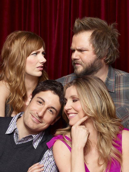 (1. Staffel) - Auf der Suche nach der großen Liebe in New York: Ben (Jason Biggs, vorne l.), Kate (Sarah Chalke, vorne r.), Connie (Judy Green, hin... - Bildquelle: CPT Holdings, Inc. All Rights Reserved.