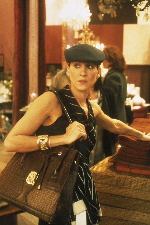 Beim Shoppen erfährt Carrie (Sarah Jessica Parker) von Sams neuer Errungenschaft, einem Kommunikationsexperten, der im Bett die Babysprache äußer... - Bildquelle: Paramount Pictures