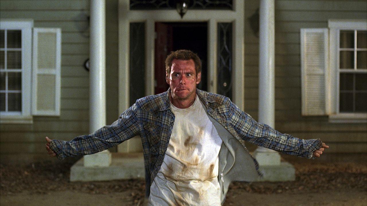 Was macht ein Mann, der keinen Job mehr hat? Richtig: sich um den Garten kümmern: Dick Harper (Jim Carrey) ... - Bildquelle: Sony Pictures Television International. All Rights Reserved.