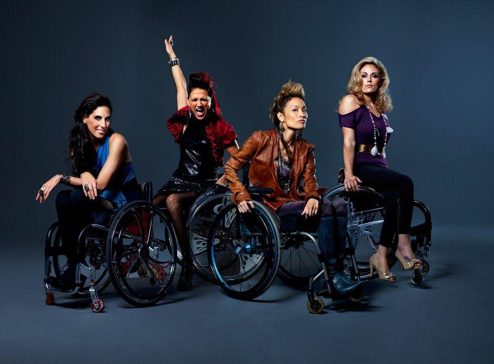 Diese vier Powerfrauen sind durch ihr gemeinsames Schicksal enge Freundinnen geworden (v.l.n.r.): Mia Schaikewitz, Auti Angel, Angela Rockwood und T... - Bildquelle: Sundance Channel