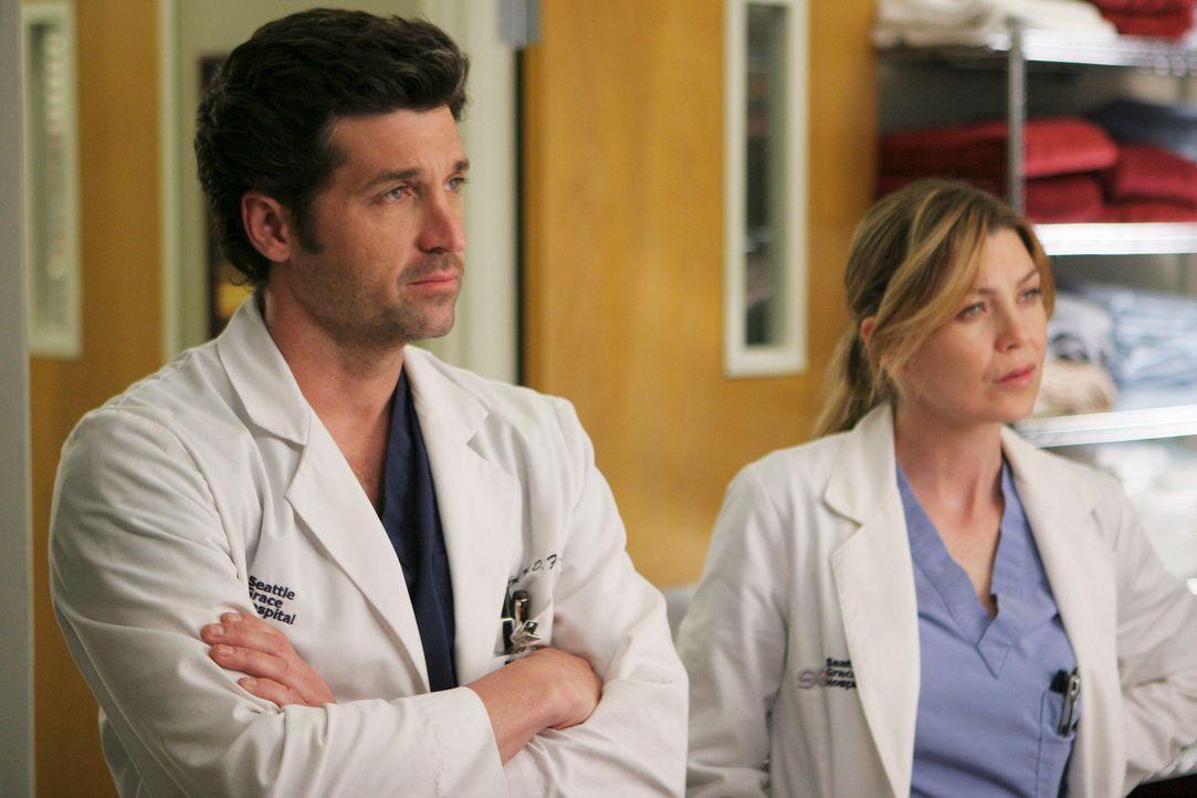 Derek (Patrick Dempsey, l.) und Meredith (Ellen Pompeo, r.) setzen alles daran, ein krebskrankes Liebespaar zu retten ... - Bildquelle: Touchstone Television
