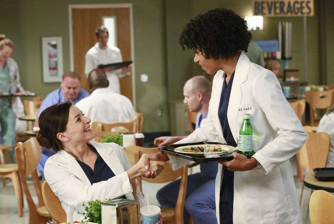Amelia (Caterina Scorsone, l.) versucht verzweifelt Richards Geheimnis vor Maggie (Kelly McCreary, r.) zu bewahren und sich nichts anmerken zu lasse... - Bildquelle: ABC Studios