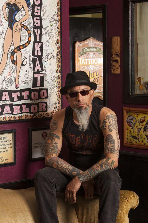 Tattoos, die das Sex-Leben ruinieren? Für Ruckus eindeutig ein Fall für ein dringend notwendiges Cover-up ... - Bildquelle: Richard Knapp 2014 A+E Networks, LLC