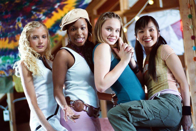 Mit der neuen Besetzung schaffen sie es ganz nach oben: Lorette Modern (Spencer Redford, l.), Rachel (Porscha Coleman, 2.v.l.), Samantha (Leah Pipes... - Bildquelle: The Disney Channel