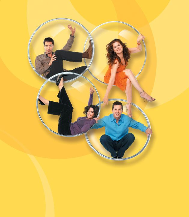 (7. Staffel) - Jack (Sean Hayes, unten r.), Karen (Megan Mullally, unten l.), Will (Eric McCormack, oben l.) und Grace (Debra Messing, oben r.) wird... - Bildquelle: NBC Productions