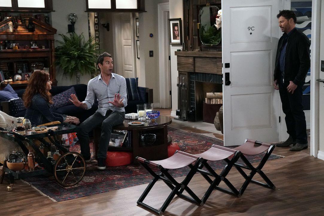 Während Grace (Debra Messing, l.) vor ihrem Ex-Mann Leo (Harry Connick Jr., r.) noch so getan hat, als würde sie die Möglichkeit, Brustkrebs zu habe... - Bildquelle: Chris Haston 2017 NBCUniversal Media, LLC / Chris Haston