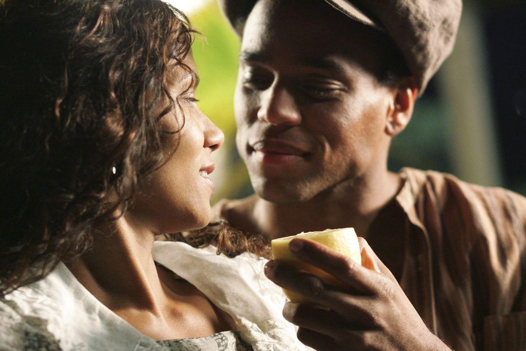 Nach alldem, was sie mitgemacht hat, findet Janie (Halle Berry, l.) in Tea Cake (Michael Ealy, r.) etwas Glück und Leidenschaft, allerdings zum Scho... - Bildquelle: Vivian Zink Harpo Films