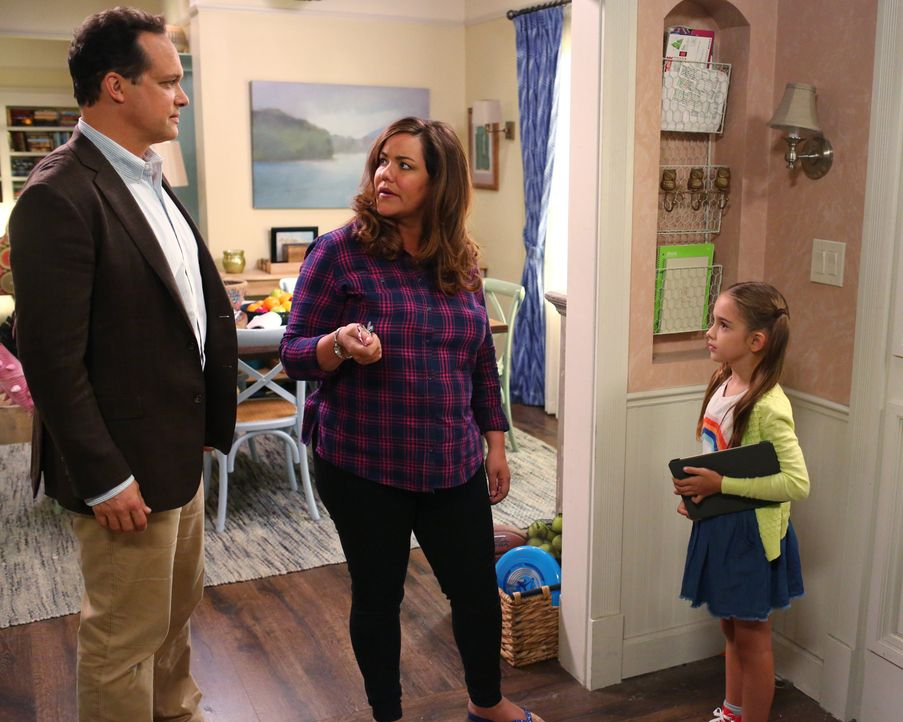 (v.l.n.r.) Greg (Diedrich Bader); Katie (Katy Mixon); Anna-Kat (Julia Butters) - Bildquelle: Michael Ansell 2017 American Broadcasting Companies, Inc. All rights reserved. / Michael Ansell