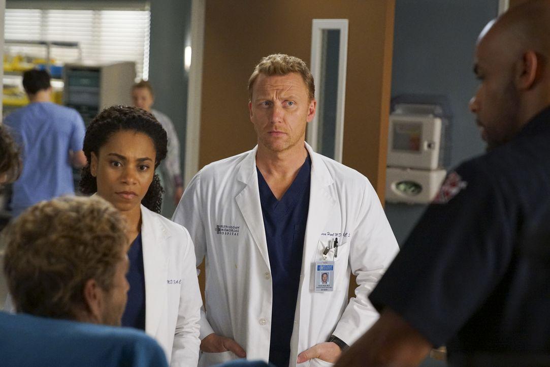 Dr. Maggie Pierce (Kelly McCreary, l.); Dr. Owen Hunt (Kevin McKidd, r.) - Bildquelle: Scott Everett White ABC Studios / Scott Everett White