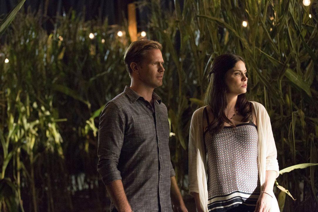 Als Alaric (Matthew Davis, l.) dem Rat von Elena folgt und bei der Party im Maisfeld auf Jo (Jodi Lyn O'Keefe, r.) trifft, endet der Abend anders al... - Bildquelle: Warner Bros. Entertainment, Inc