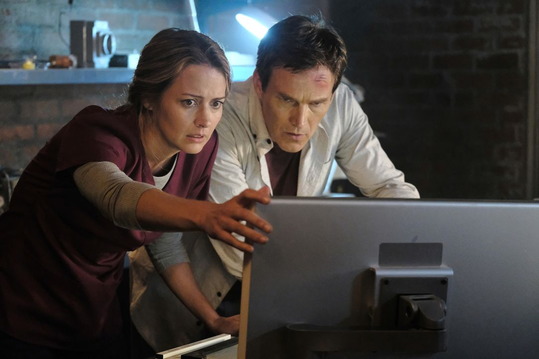Kate (Amy Acker, l.); Reed (Stephen Moyer, r.) - Bildquelle: Guy D'Alema 2018-2019 Fox and its related entities.  All rights reserved.  MARVEL TM &   2017 MARVEL
