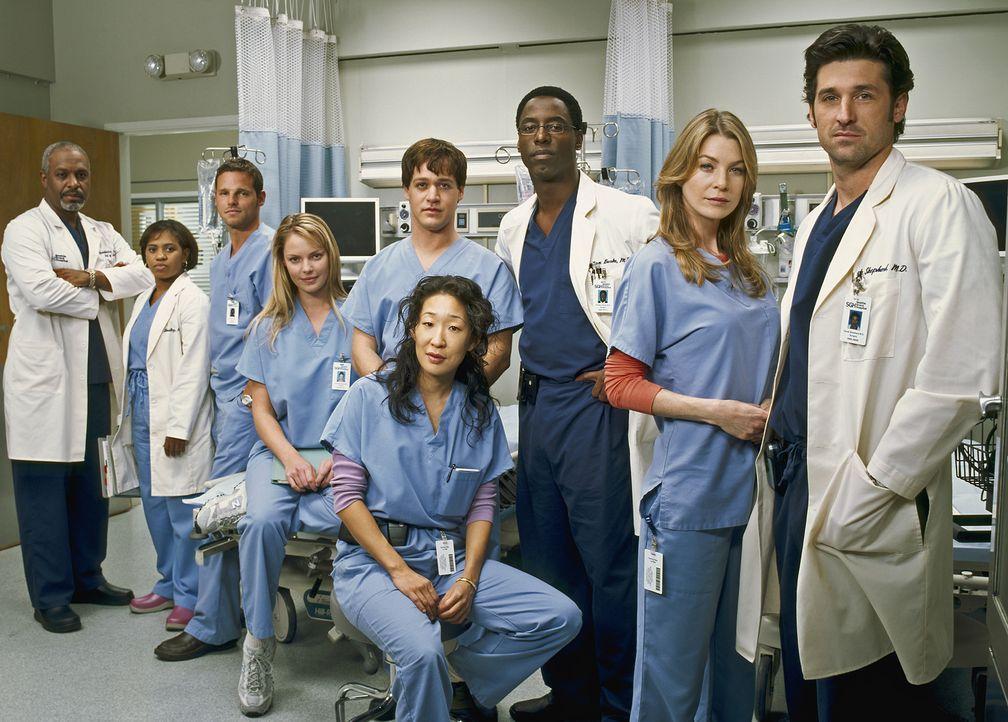 (1. Staffel) - Die Belegschaft des Seattle Grace Hospitals muss täglich mit neuen Überraschungen rechnen: (V.l.n.r.) Dr. Richard Webber (James Picke... - Bildquelle: Touchstone Television