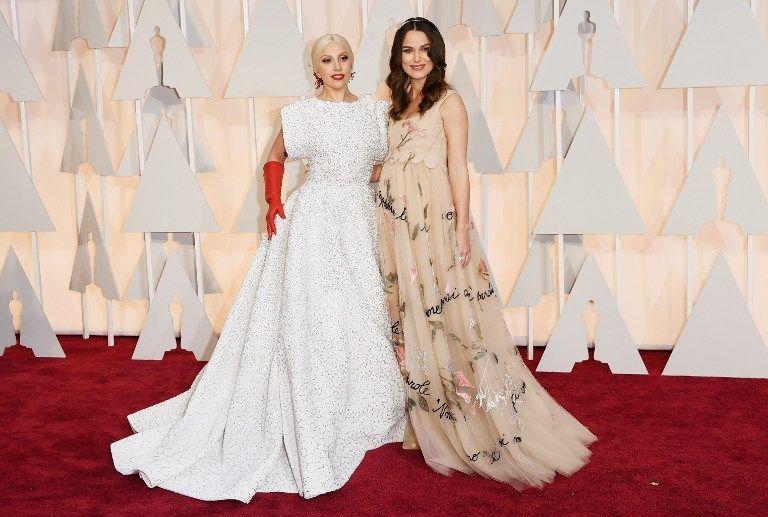 Oscars 2015: Keira Knightley und Lady Gaga - Bildquelle: AFP