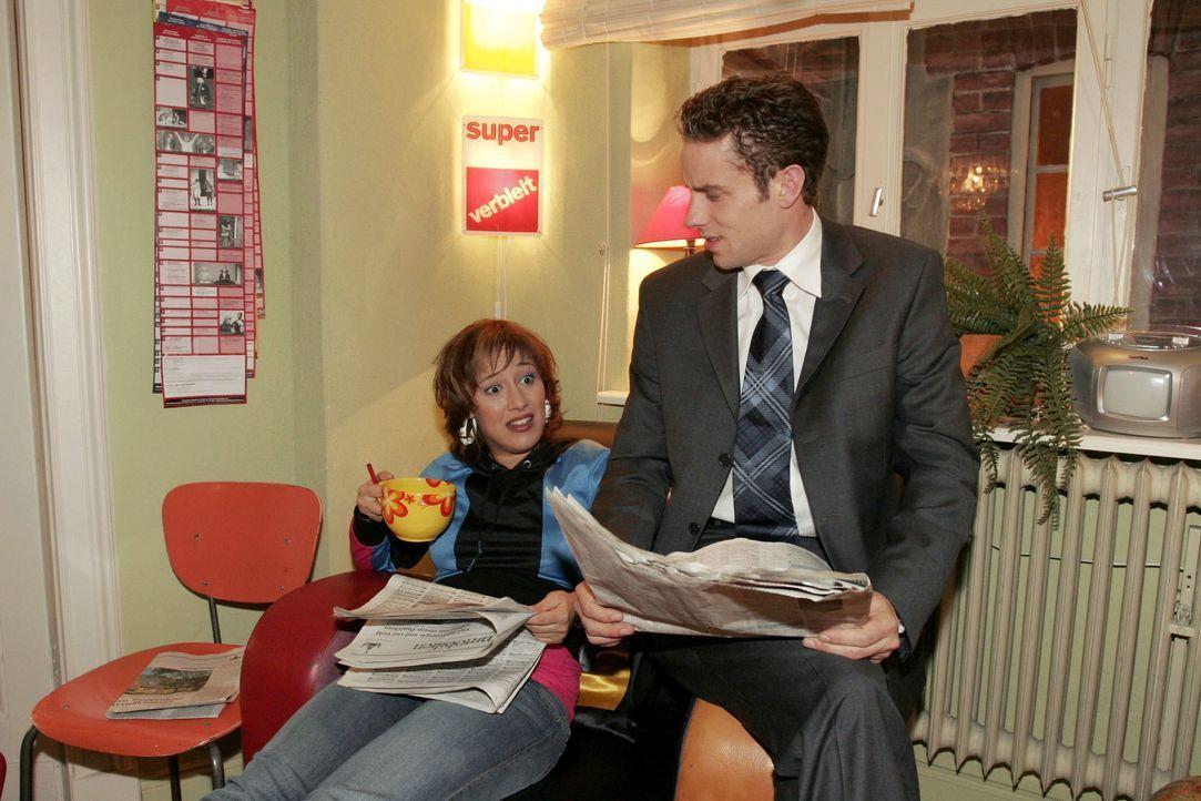 Yvonne (Bärbel Schleker, l.) und Max (Alexander Sternberg, r.) haben sehr unterschiedliche Vorstellungen darüber, wie ihre zukünftige Wohnung ausseh... - Bildquelle: Noreen Flynn SAT.1 / Noreen Flynn