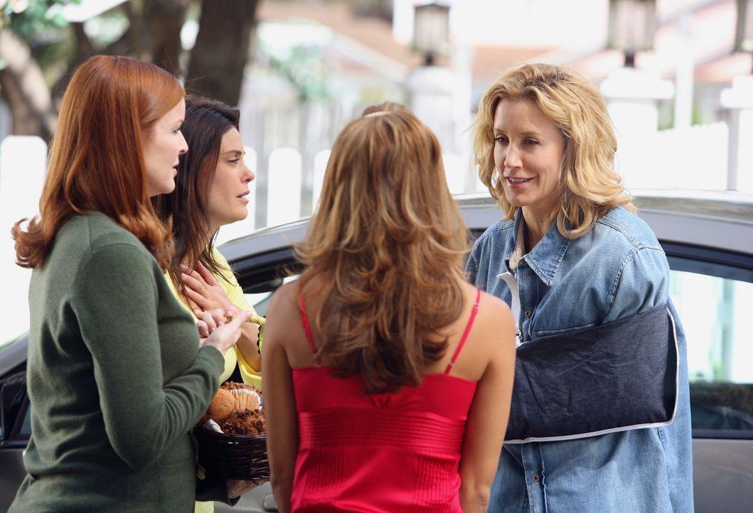 Gabrielle (Eva Longoria, 2.v.r.), Bree (Marcia Cross, l.) und Susan (Teri Hatcher, 2.v.l.) freuen sich, dass Lynette (Felicity Huffman, r.) nach der... - Bildquelle: 2005 Touchstone Television  All Rights Reserved