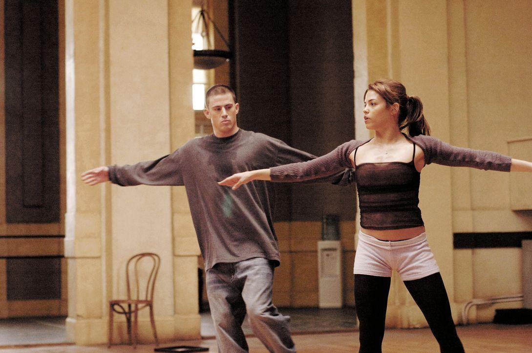 Ballett meets Streetdance: Wider Erwarten kann Tyler (Channing Tatum) dem Tanzen mit Nora (Jenna Dewan) einiges abgewinnen ... - Bildquelle: Constantin Film