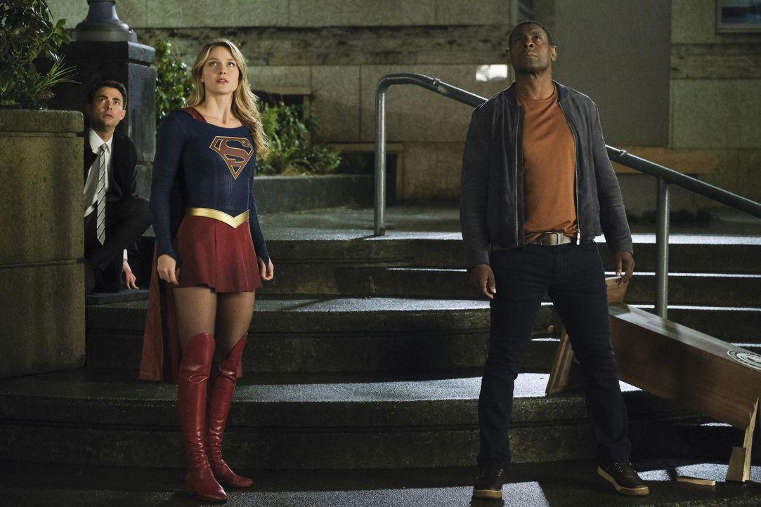 (v.l.n.r.) Quentin (Jonathan Bennett); Kara alias Supergirl (Melissa Benoist); J'onn (David Harewood) - Bildquelle: Jeff Weddell 2018 The CW Network, LLC. All Rights Reserved.