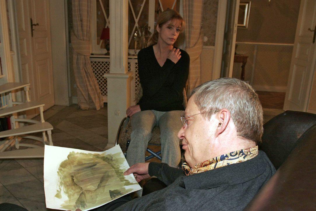 Laura (Olivia Pascal, l.) registriert, wie sehr Friedrich (Wilhelm Manske, r.) unter ihrer Krankheit leidet. - Bildquelle: Monika Schürle SAT.1 / Monika Schürle