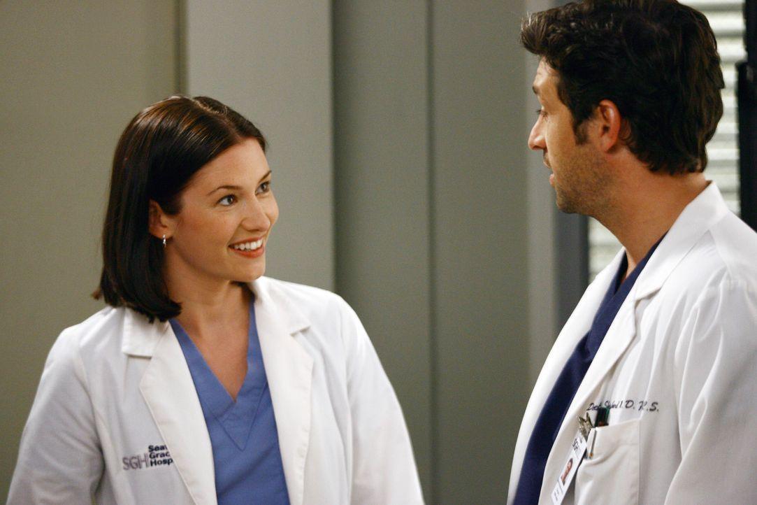 Treffen im Krankenhaus wieder aufeinander: Derek (Patrick Dempsey, r.) und Lexie (Chyler Leigh, l.) ... - Bildquelle: Touchstone Television