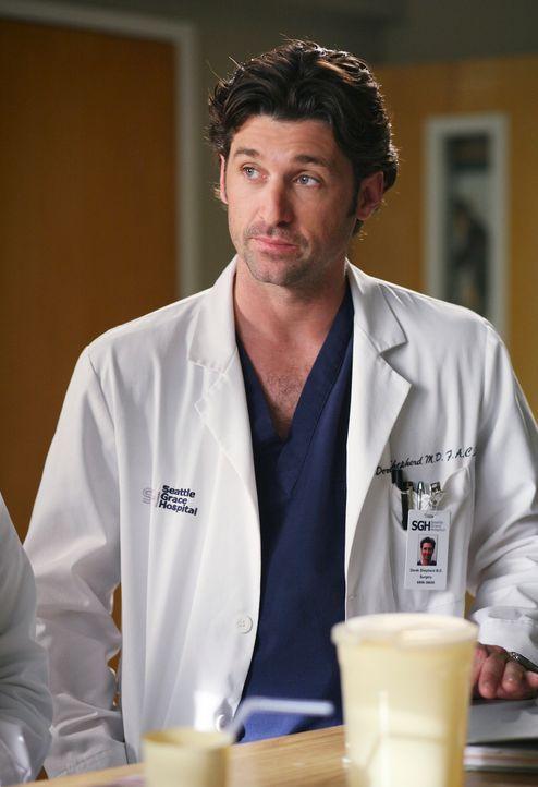 Hat einen Plan, wie er bei Meredith punkten kann: Derek (Patrick Dempsey) ... - Bildquelle: Touchstone Television