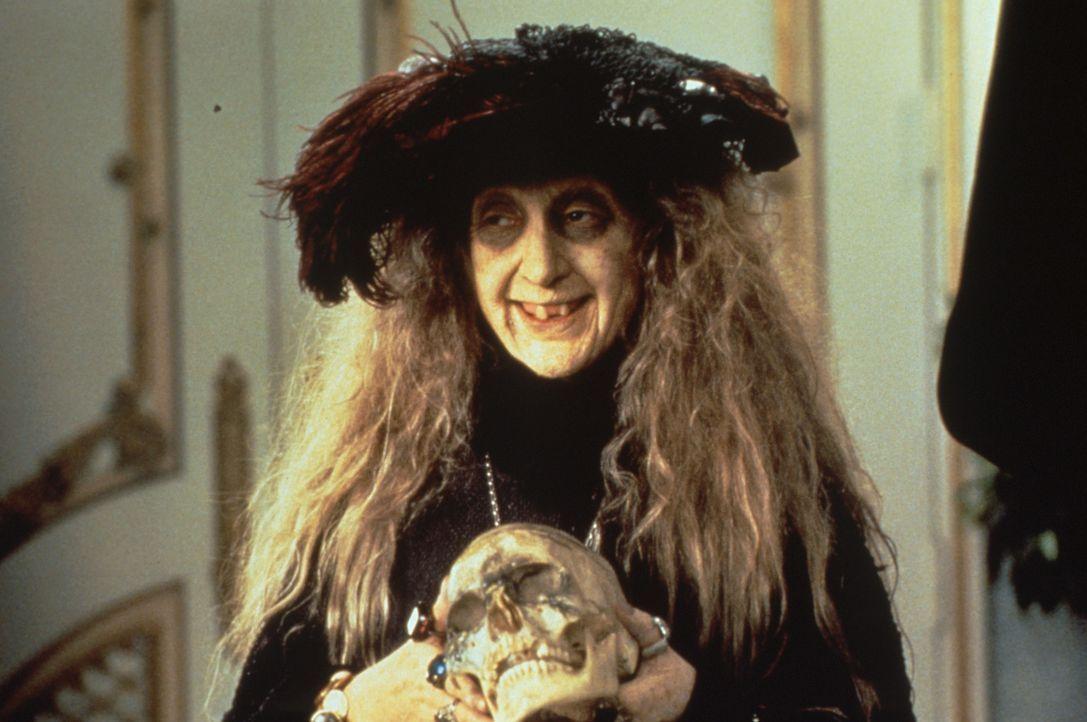 Granny Addams (Carol Kane) trägt entscheidend zur makaberen Idylle der Addams bei. - Bildquelle: Paramount Pictures