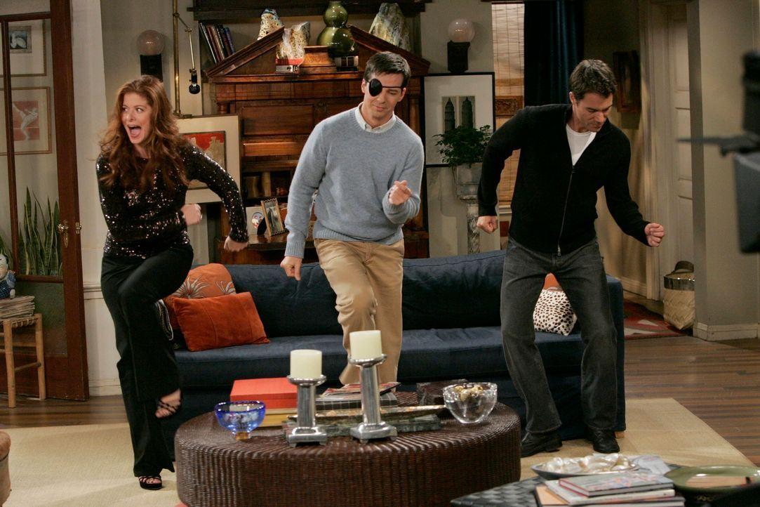 Bringen Schwung in die Bude: Will (Eric McCormack, r.), Grace (Debra Messing, l.) und Jack (Sean Hayes, M.) ... - Bildquelle: NBC Productions