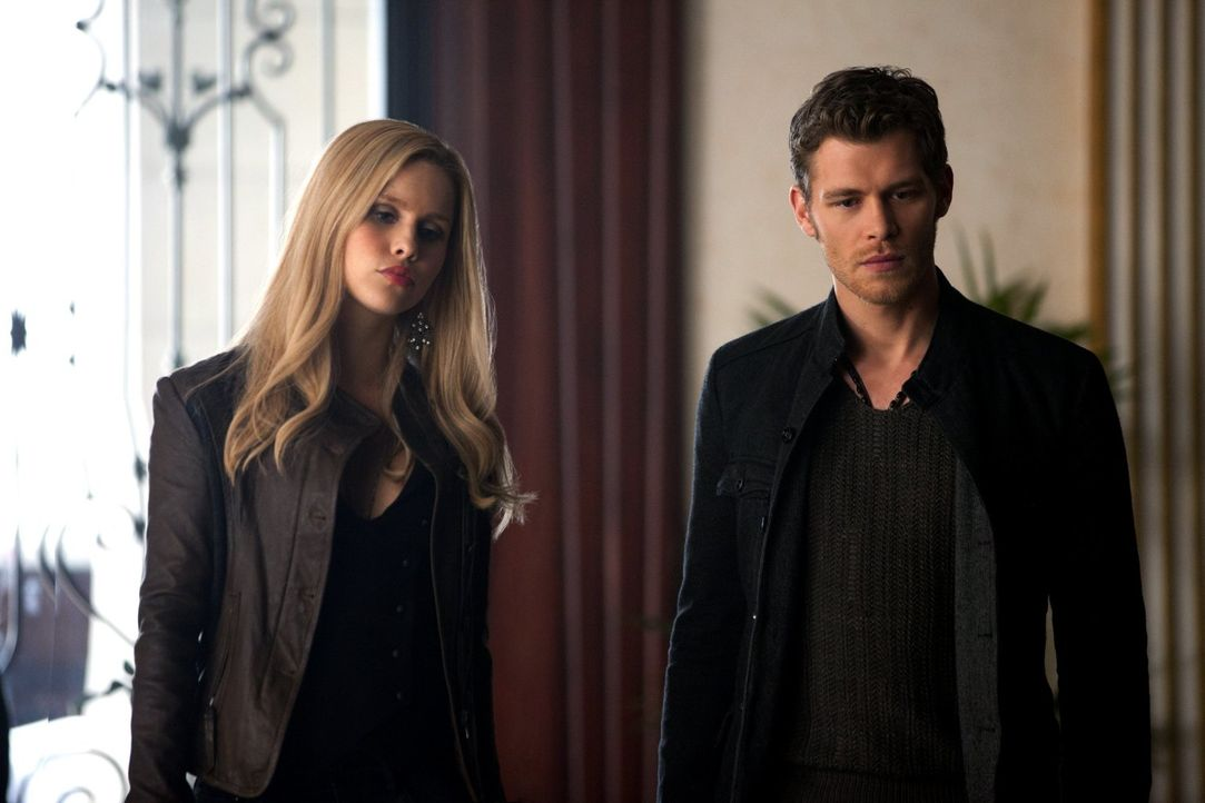 Finden die perfekte Motivation, um Finn davon zu überzeugen, mit ihnen zu arbeiten: Klaus (Joseph Morgan, r.) und Rebekah (Claire Holt, l.) ... - Bildquelle: Warner Brothers Entertainment Inc.
