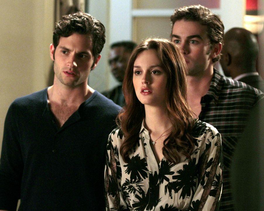 Dan (Penn Badgley, l.), Blair (Leighton Meester, M.) und Nate (Chace Crawford, r.) schließen sich zusammen, um der verschwundenen Juliet auf die Spu... - Bildquelle: Warner Bros. Television