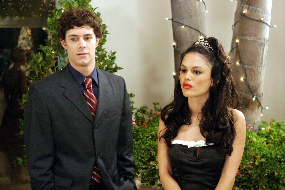 Für Seth (Adam Brody, l.) endet Weihnukkah in einem Schlamassel, denn er muss sich zwischen Anna und Summer (Rachel Bilson, r.) entscheiden ... - Bildquelle: Warner Bros. Television