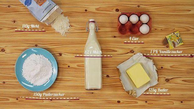 Zutaten für den Magic Cake