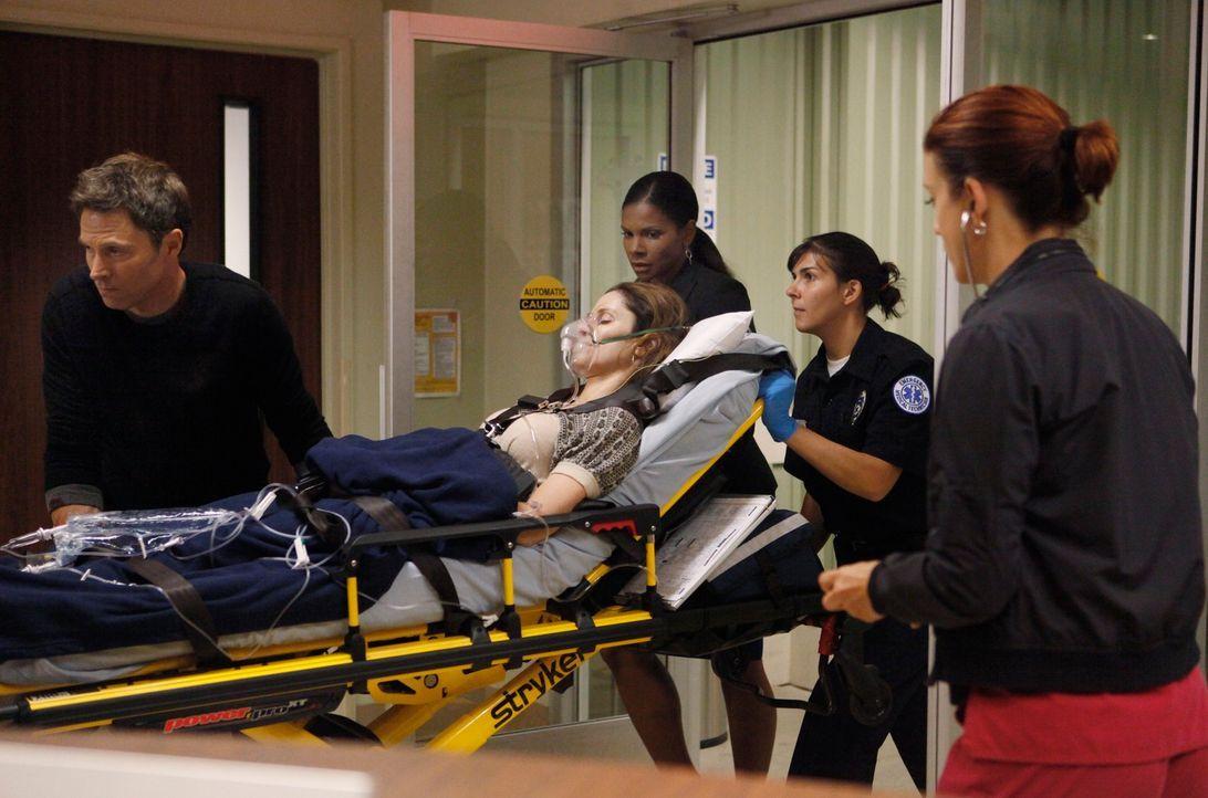 Nachdem Violet (Amy Brenneman, liegend) von Katie angegriffen wurde, findet Pete (Tim Daly, l.) sie schwer verletzt in ihrer Wohnung vor und bringt... - Bildquelle: ABC Studios