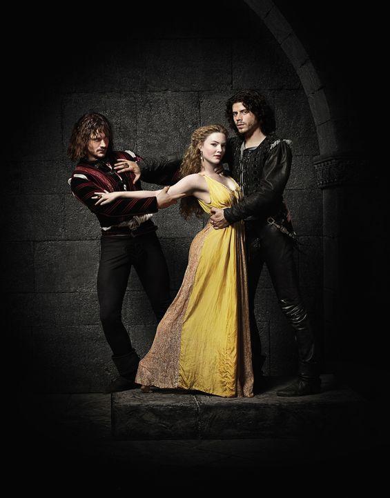 Juan, Lucrezia und Cesare Borgia - Bildquelle: LB Television Productions Limited/Borgias Productions Inc./Borg Films kft