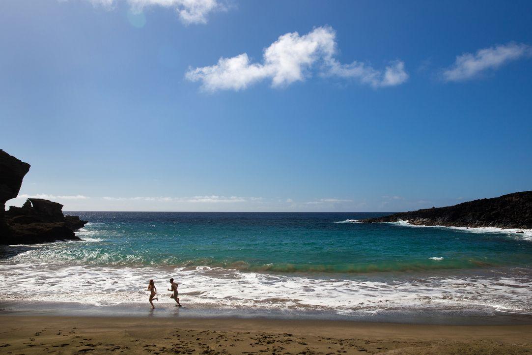 """Hawaii bietet unzählig viele paradiesische Strände: Wie zum Beispiel den """"Papakolea Beach"""" auf """"Big Island"""" ... - Bildquelle: 2017,The Travel Channel, L.L.C. All Rights Reserved"""