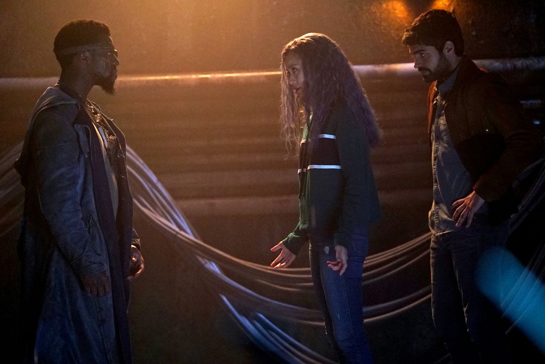 (v.l.n.r.) Erg (Michael Luwoye); Blink (Jamie Chung); Eclipse (Sean Teale) - Bildquelle: Annette Brown 2019 Fox and its related entities.  All rights reserved.  MARVEL TM &   2017 MARVEL