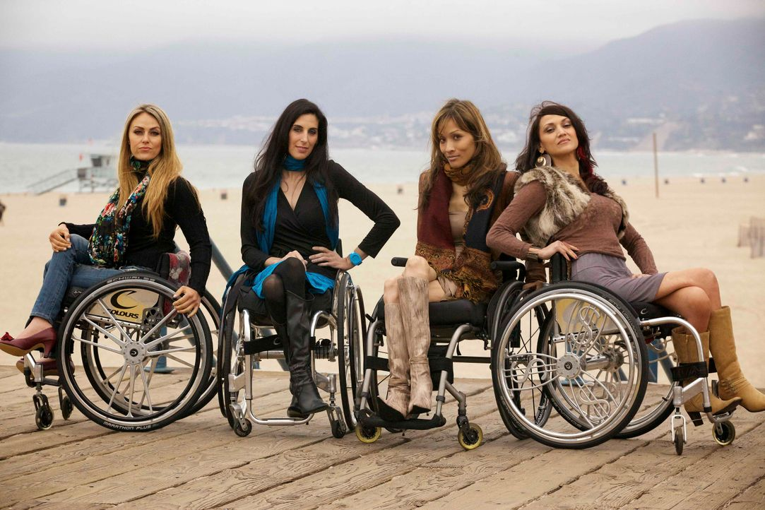 Die Push Girls Tiphany, Mia, Angela und Auti in Santa Monica - Bildquelle: Sundance Channel