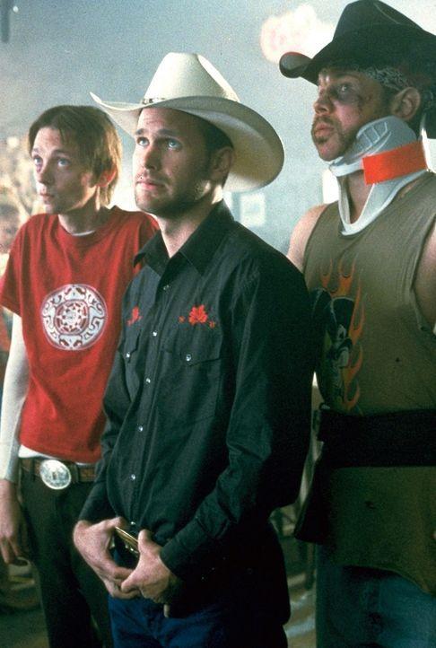 Zu Earls besten Freunden zählen der schwule Freizeit-Cowboy Jimbo (Matthew Davis, M.), der unterbelichtete Junior (D.J. Qualls, l.) und Tinker (Rya... - Bildquelle: TriStar Pictures