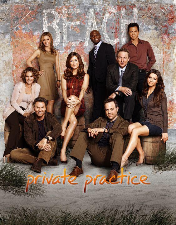 (5. Staffel) - Private Practice: (v.l.n.r.) Dr. Violet Turner (Amy Brenneman), Dr. Pete Wilder (Tim Daly), Dr. Charlotte King (KaDee Strickland), Dr... - Bildquelle: ABC Studios