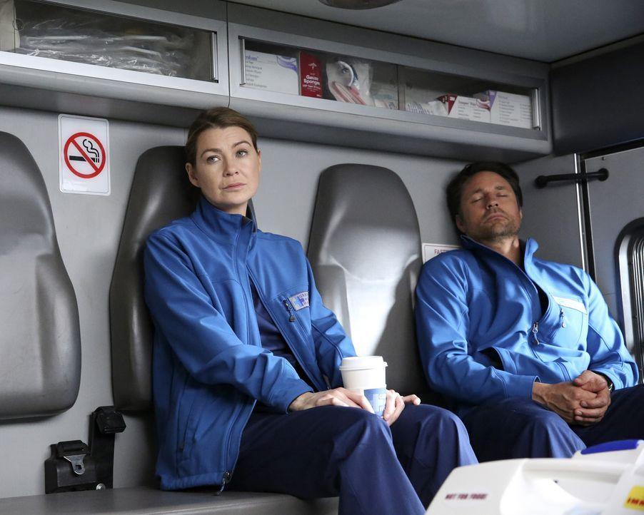 Ihr Einsatz verläuft völlig anders, als geplant: Meredith (Ellen Pompeo, l.) und Nathan (Martin Henderson, r.) ... - Bildquelle: Mitchell Haaseth ABC Studios