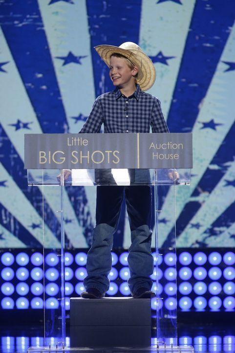 Der elfjährige Cash (Bild) ist ein professioneller Auktionator und er ist wirklich gut in dem, was er tut - das merkt auch Steve Harvey ... - Bildquelle: Warner Bros.