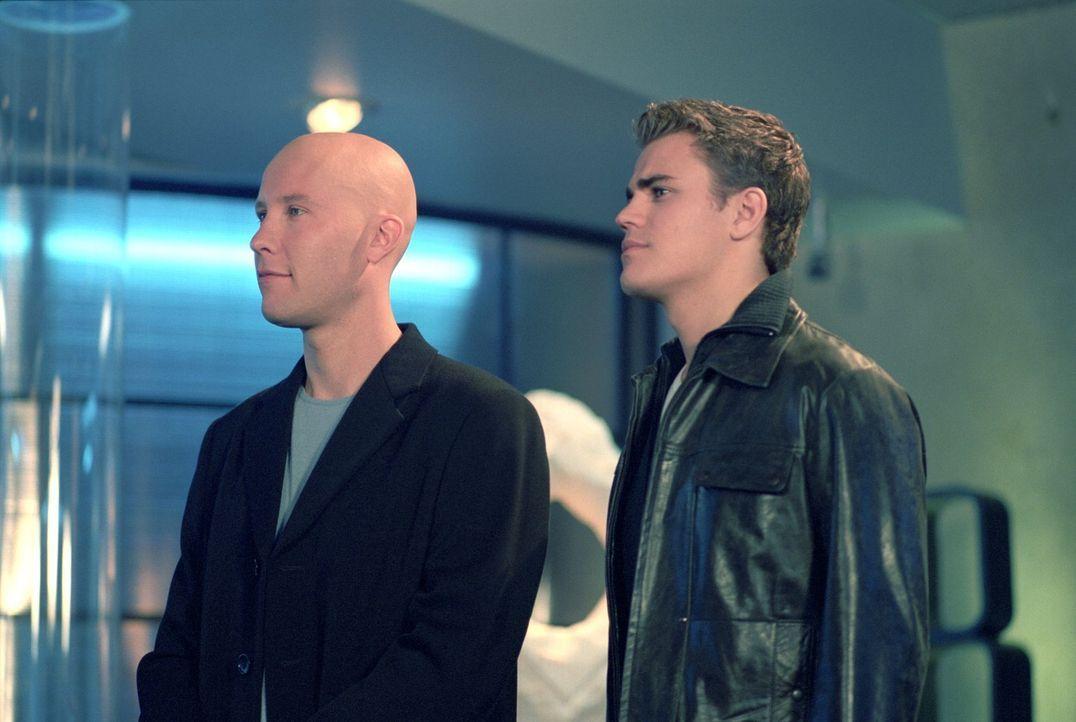 Während Lex (Michael Rosenaum, l.) im Luxus lebte, fristete Lucas (Paul Wasilewski, r.) bislang ein Dasein als Kleinkrimineller ... - Bildquelle: Warner Bros.