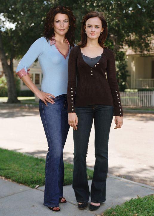 (Staffel 6 ) - Bisher waren Mutter Lorelai (Lauren Graham, l.) und Tochter Rory (Alexis Bledel, r.) ein unzertrennliches Team. Als Rory jedoch eröff... - Bildquelle: Warner Brothers International Television